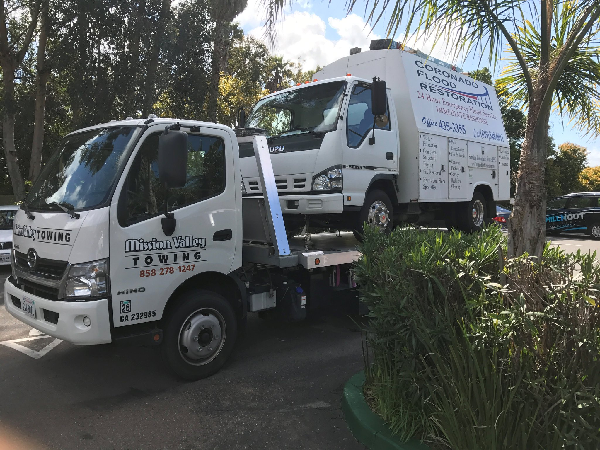 Towing a van or heavy truck in San Diego County