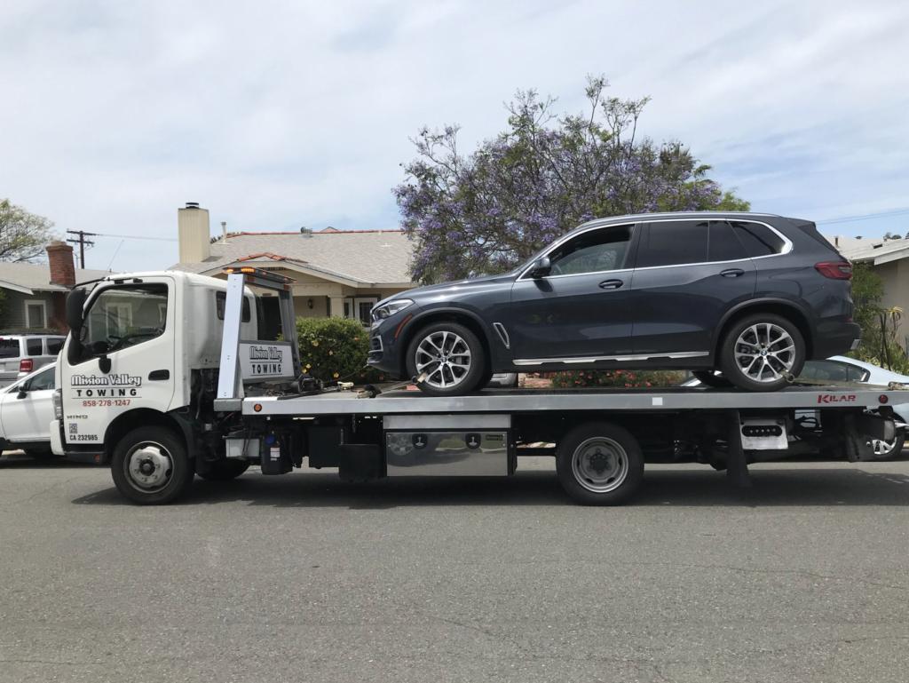 2019 BMW X5 Hybrid flatbed towed
