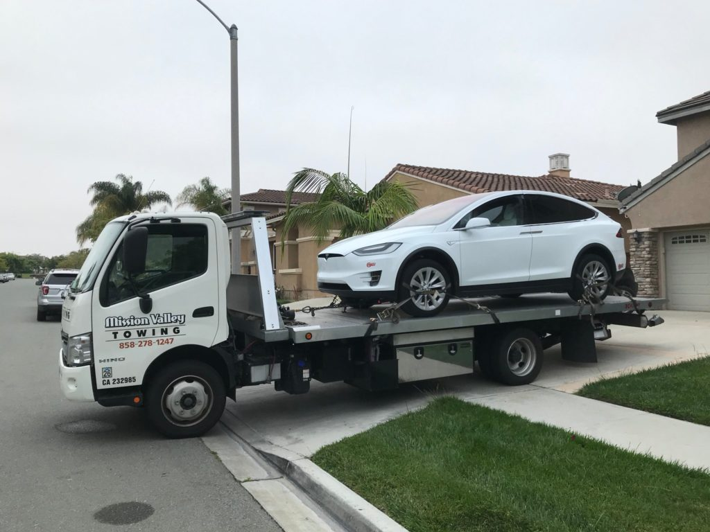towing a tesla